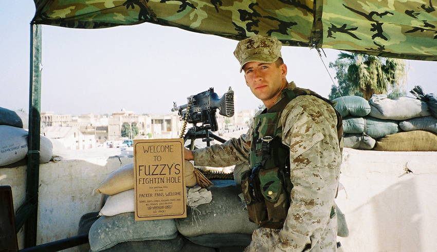 Dan Zimmerman in Iraq