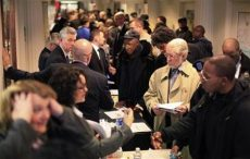 Reuters/Reuters - People attend a military veterans hiring event in New York January 19, 2012. REUTERS/Brendan McDermid