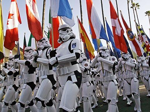 While the 501st Legion may be fictional, they march as good as any real soldiers. Credit: Rosemary Dominguez