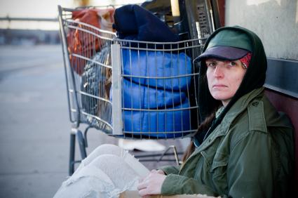 Homeless Female Veteran